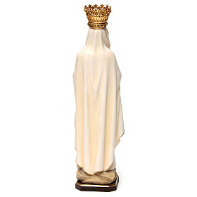 Our Lady of Lourdes Statue with Crown painted wood Val Gardena s5
