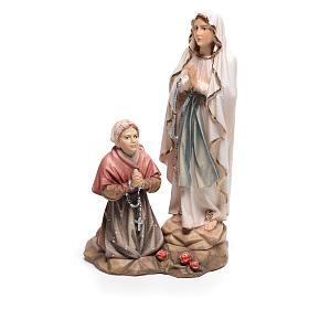 Statues en bois peint: Statue groupe Apparition de Lourdes