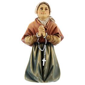 Saint Bernadette Statue wood painted Val Gardena s1