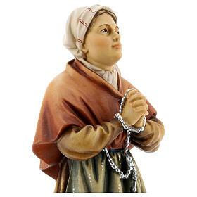 Saint Bernadette Statue wood painted Val Gardena s2