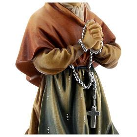 Saint Bernadette Statue wood painted Val Gardena s4