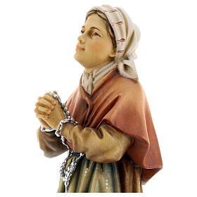 Saint Bernadette Statue wood painted Val Gardena s5