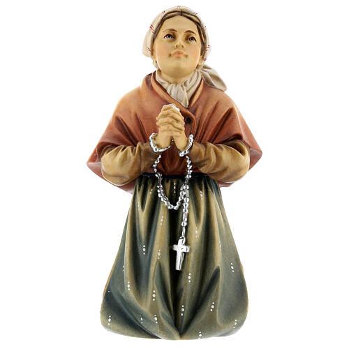 Saint Bernadette Statue wood painted Val Gardena 1