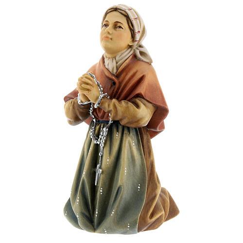 Saint Bernadette Statue wood painted Val Gardena 3