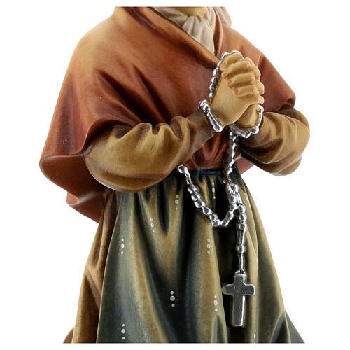 Saint Bernadette Statue wood painted Val Gardena 4