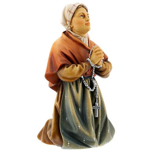 Saint Bernadette Statue wood painted Val Gardena 6