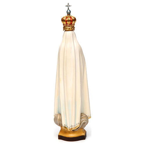 Our Lady of Fatima Capelinha with crown statue in painted wood, Val Gardena 5