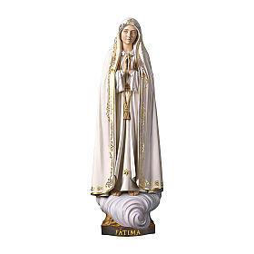 Statue Notre-Dame de Fatima Capelinha bois peint Val Gardena s1