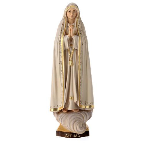 Statua Madonna di Fátima Capelinha legno dipinto Val Gardena 6