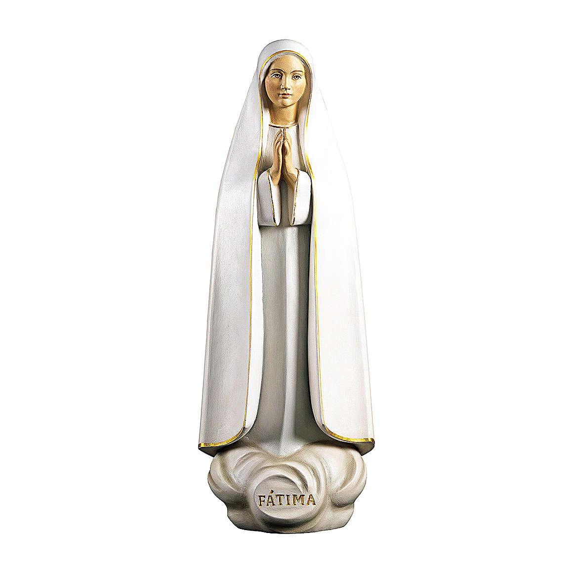 Statue de Fatima stylisée bois peint Val Gardena 4