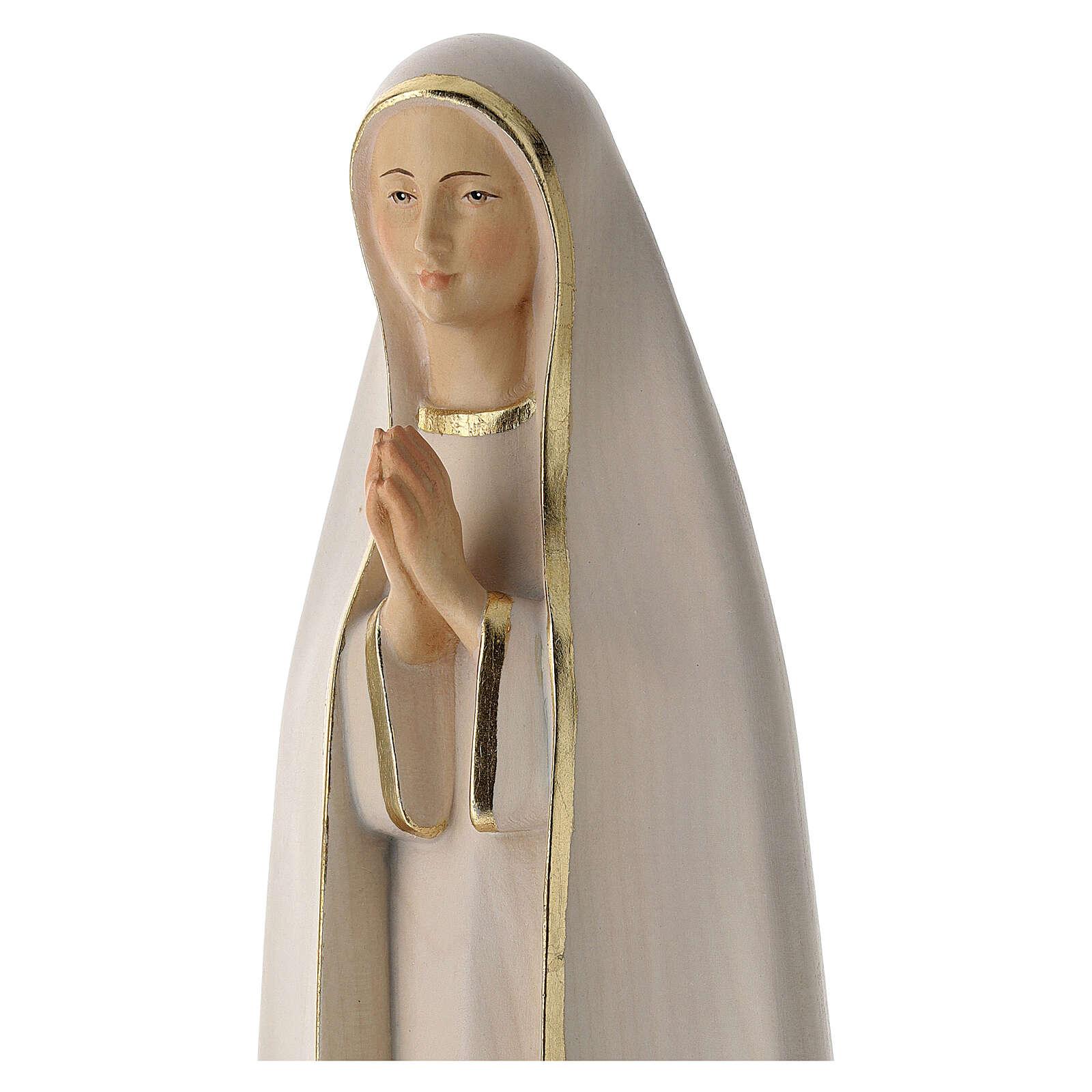 Fatima Statue stylized wood painted Val Gardena 4