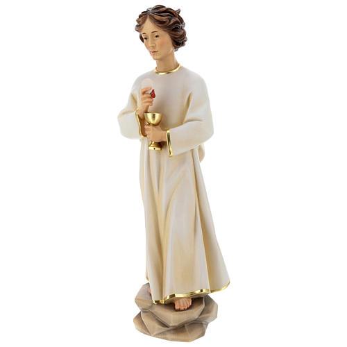 Statue Ange de la Paix Portugal bois peint Val Gardena 4