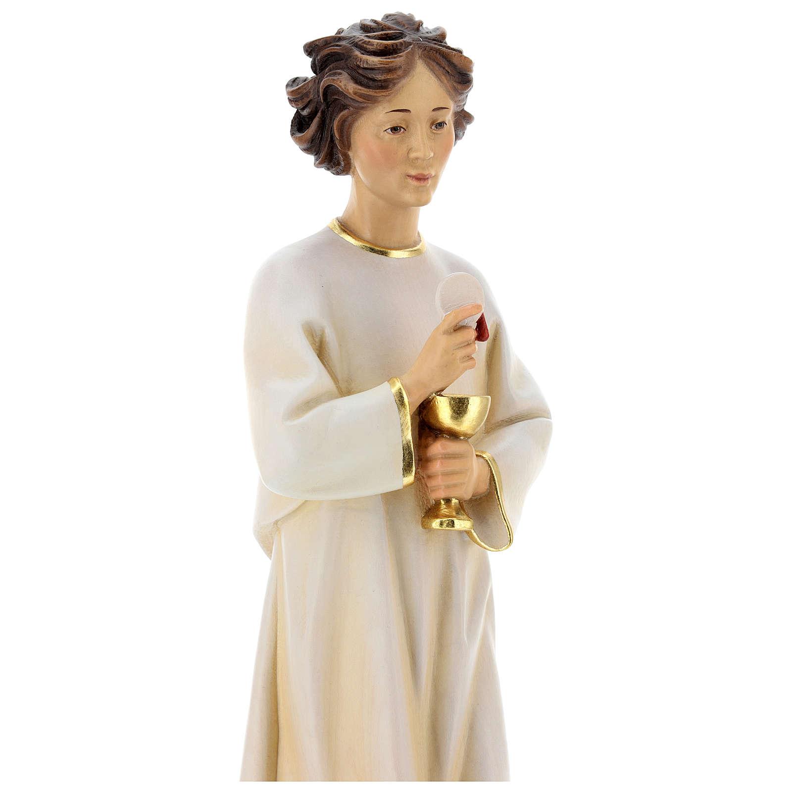 Statua angelo della pace Portogallo legno dipinto Val Gardena 4