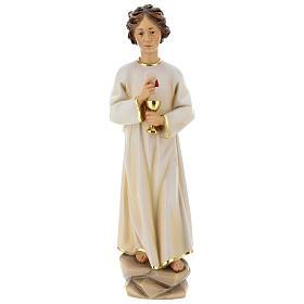 Statua angelo della pace Portogallo legno dipinto Val Gardena s1