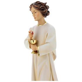 Statua angelo della pace Portogallo legno dipinto Val Gardena s3