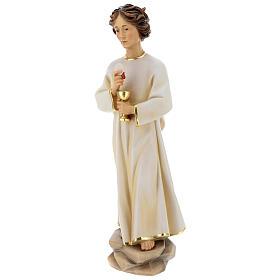 Statua angelo della pace Portogallo legno dipinto Val Gardena s4