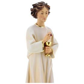 Statua angelo della pace Portogallo legno dipinto Val Gardena s5