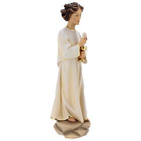 Statua angelo della pace Portogallo legno dipinto Val Gardena s6