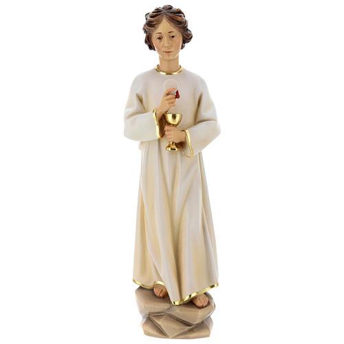 Statua angelo della pace Portogallo legno dipinto Val Gardena 1