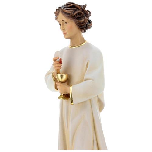 Statua angelo della pace Portogallo legno dipinto Val Gardena 3