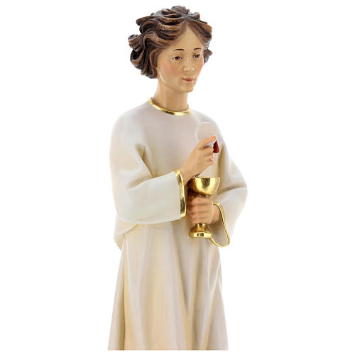 Statua angelo della pace Portogallo legno dipinto Val Gardena 5