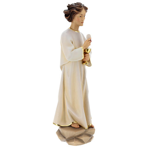 Statua angelo della pace Portogallo legno dipinto Val Gardena 6