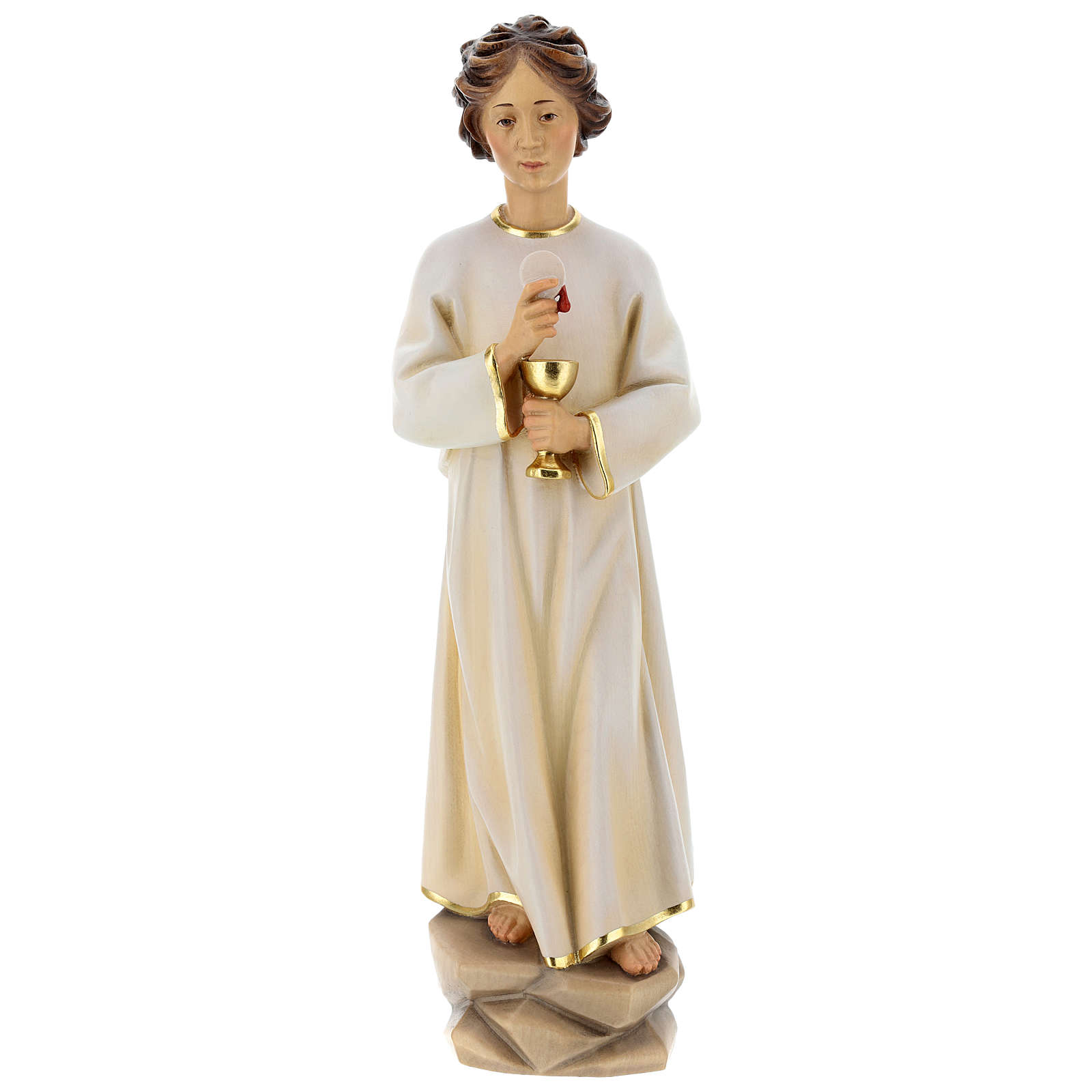 Angel of Peace Portugal Statue wood painted Val Gardena 4