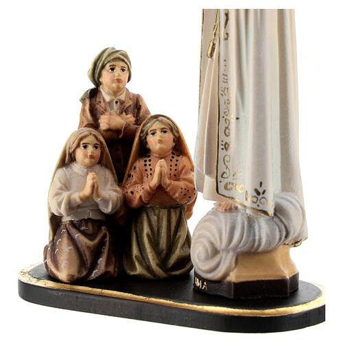 Gruppo apparizione di Fátima Capelinha legno dipinto Val Gardena 4