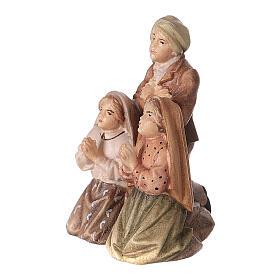 Estatuas de tres pastores de Fátima madera pintada Val Gardena s2