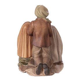 Statue dei tre pastorelli di Fátima legno dipinto Val Gardena s4