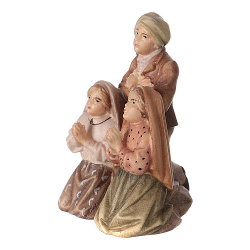 Statues of the three shepherds of Fatima wood painted Val Gardena 2