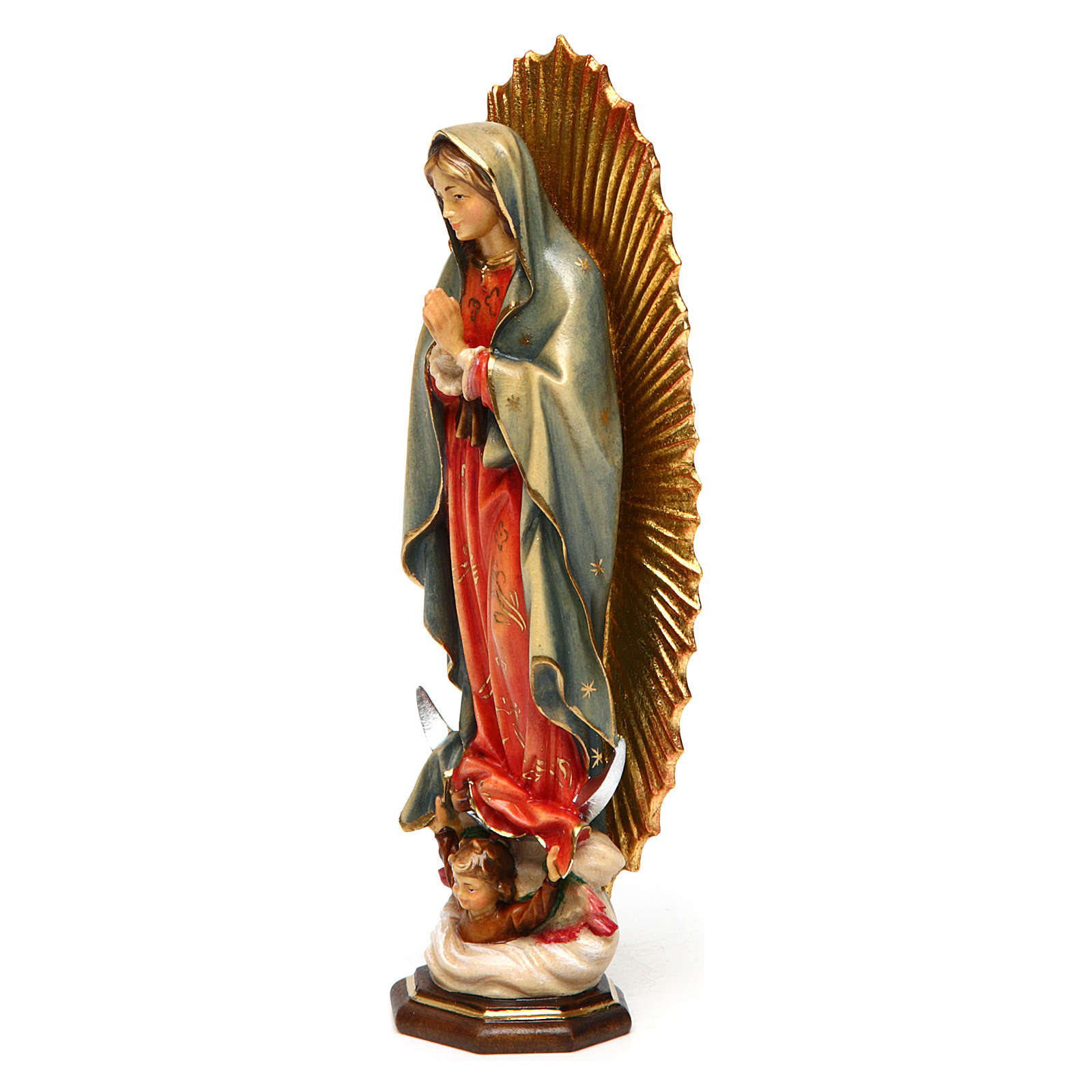 Our Lady of Guadalupe statue in painted wood, Val Gardena 4