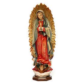 Imágenes de Madera Pintada: Imagen Nuestra Señora de Guadalupe Madera Pintada Val Gardena