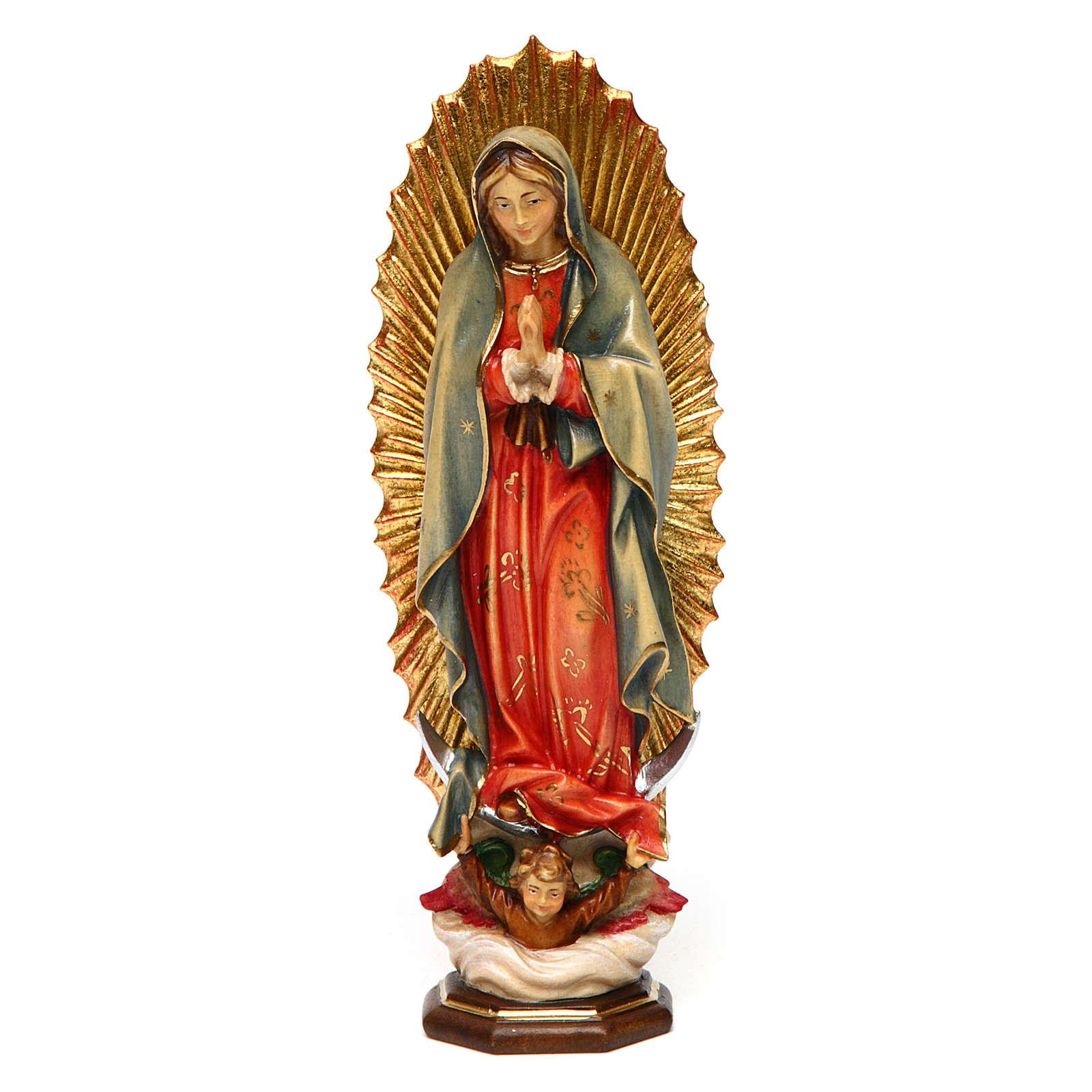 Statua Madonna di Guadalupe legno dipinto Val Gardena 4