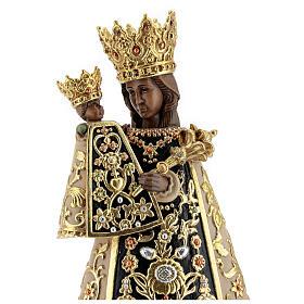 Statua Madonna di Altötting legno dipinto Val Gardena
