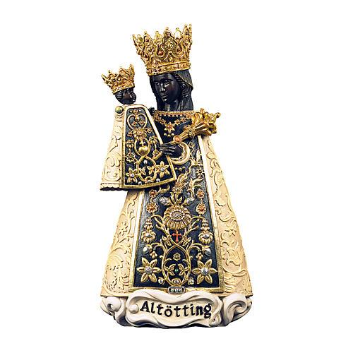 Statua Madonna di Altötting legno dipinto Val Gardena 1