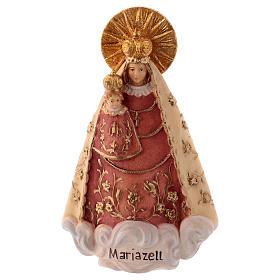 Statues en bois peint: Statue Notre-Dame de Mariazell bois peint Val Gardena