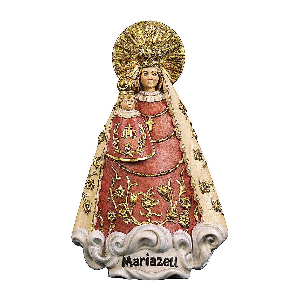 Statua Madonna di Mariazell legno dipinto Val Gardena 4