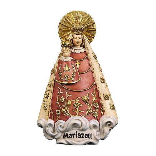 Statua Madonna di Mariazell legno dipinto Val Gardena 1