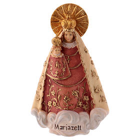Hand painted wooden statues: Our Lady of Mariazell Statue wood painted Val Gardena