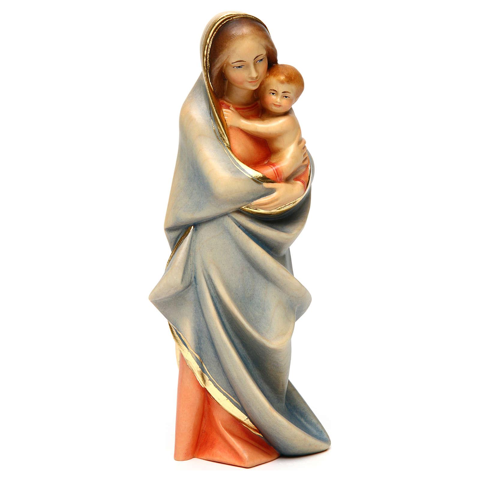 Statue Vierge moderne bois peint Val Gardena 4