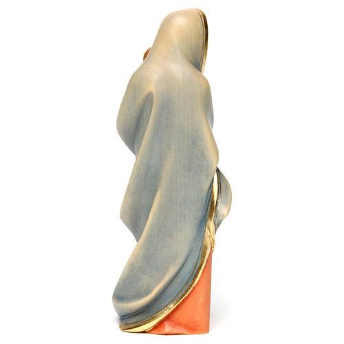 Statue Vierge moderne bois peint Val Gardena 5