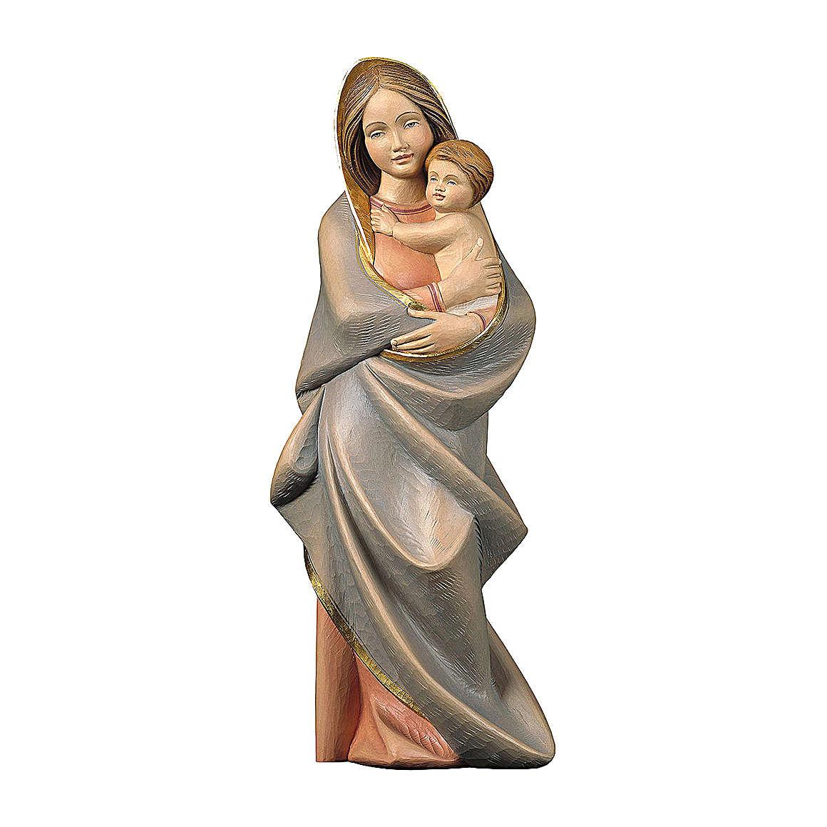 Statua Madonna moderna legno dipinto Val Gardena 4