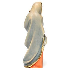 Statua Madonna moderna legno dipinto Val Gardena s5
