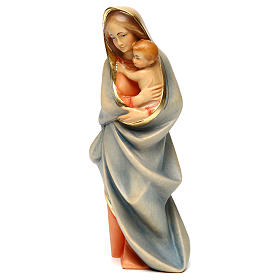 Hand painted wooden statues: Madonna Statue modern wood painted Val Gardena