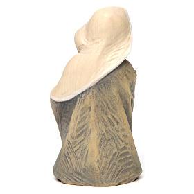 Statue buste Sainte Vierge bois peint Val Gardena s4
