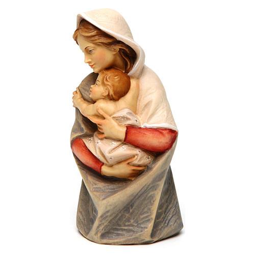 Statue buste Sainte Vierge bois peint Val Gardena 2