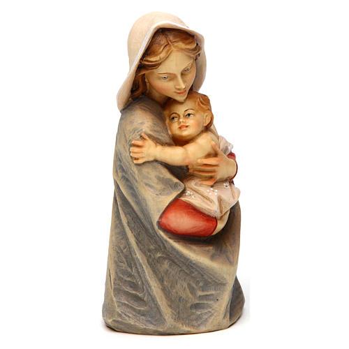 Statue buste Sainte Vierge bois peint Val Gardena 3