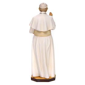 Estatua Papa Francisco madera pintada Val Gardena s4