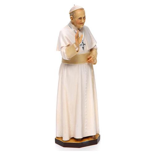 Statua Papa Francesco legno dipinto Val Gardena 3